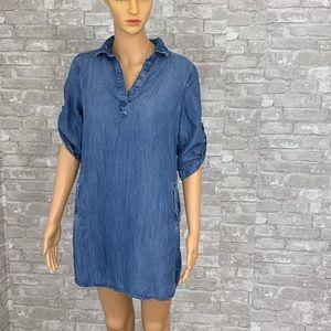 🎉🎉Cloth & Stone Denim Shirt Dress Size XS